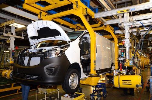 Vauxhall Vivaro tillverkas PSA-fabriken i brittiska Luton