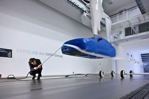 Test i BMW:s vindtunnel