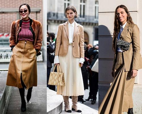 En beige eller brun look är helrätt till kontor hösten 2019.