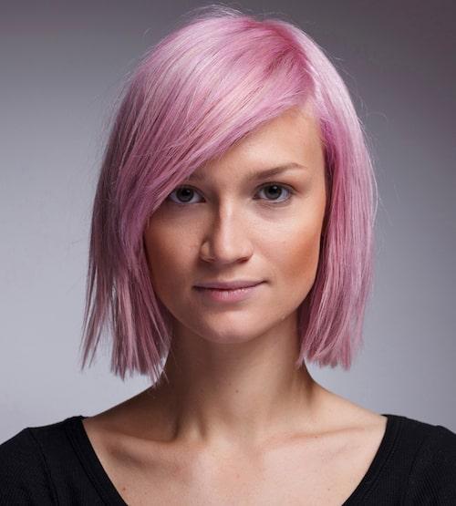 Rosa hår är alltid en bra idé!