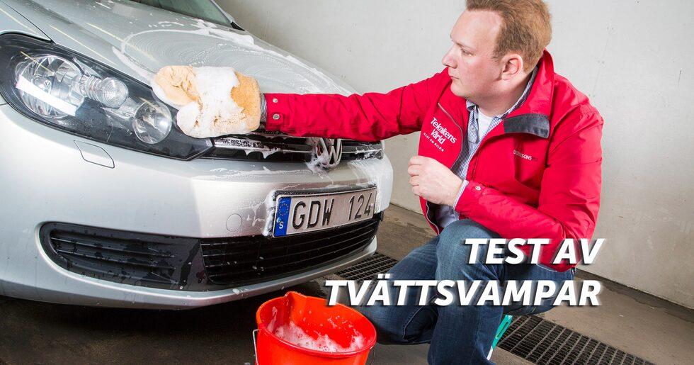 Fasta, svepande rörelser. Göran är Teknikens Världs kunniga bilvårdsproffs.