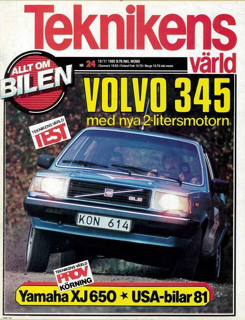 Hittar du Teknikens Värld nummer 24/1980 i dina tidningsgömmor kan du läsa vårt test av då sprillans nya Volvo 345 GLS med tvålitersmotorn på hela 95 hästkrafter.