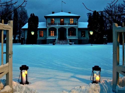 Grå Gåsen på Gotland vintertid – något vi inte är vana vid att se på tv.
