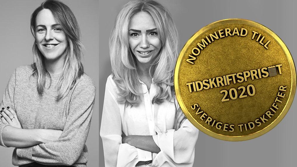 Jonna Bergh och Cassandra Lindblom om Damernas Världs nominering till Tidskriftspriset 2020.