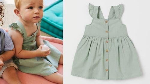 Barnet kan matcha mamma i egen grön klänning.