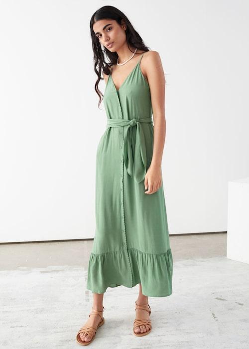 Grön och somrig klänning för dam.