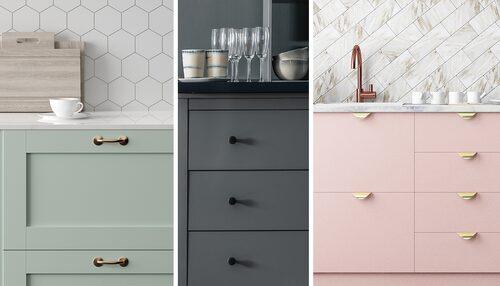 Nya detaljer förändrar ditt kök direkt. Gör det personligt och köp handtag och knoppar second hand.