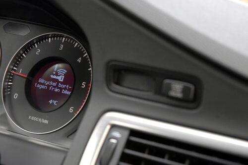 Nyckellöst insteg är smidigt och Volvos lösning är dessutom enkel och lättbegriplig, ett lyxigt tillval för 6 900 kronor.