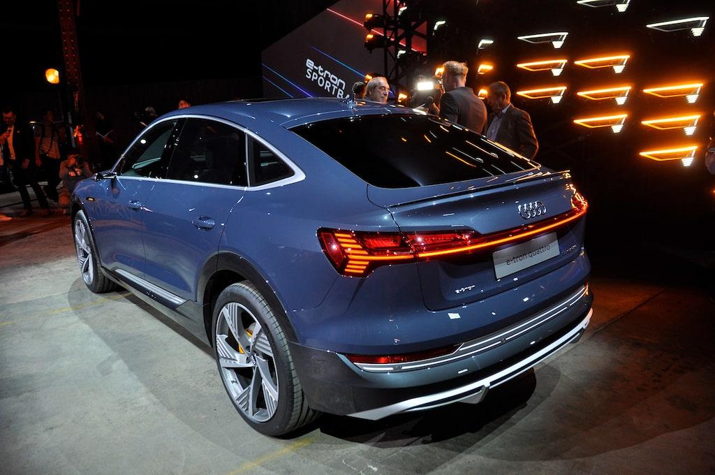 Audi e-tron Sportback på bilsalongen i Los Angeles.