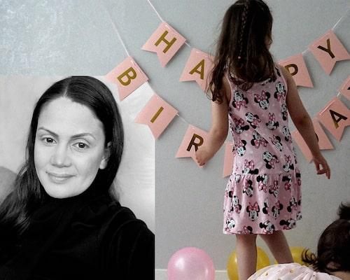 Suzanna vill uppmuntra andra föräldrar att tänka till innan de bjuder in till kalas på förskolan. Dottern Sophia (t h) var den enda som inte blev bjuden på fredagsmys häromveckan.