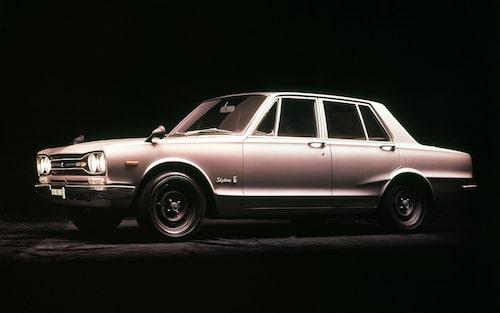 Nissan Skyline GT-R 1969 med fyra dörrar
