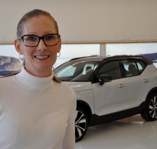 """Caroline Kjellin är teknisk utvecklingschef för Volvo Cars kommande elbilar. """"En spännande framtid""""."""