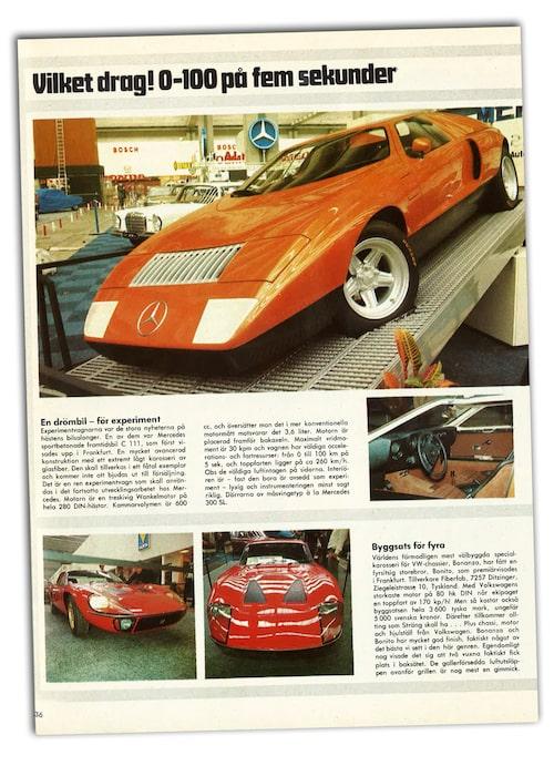 Den där bilen hade rönt stor uppmärksamhet även i dag. Tänk då 1969!