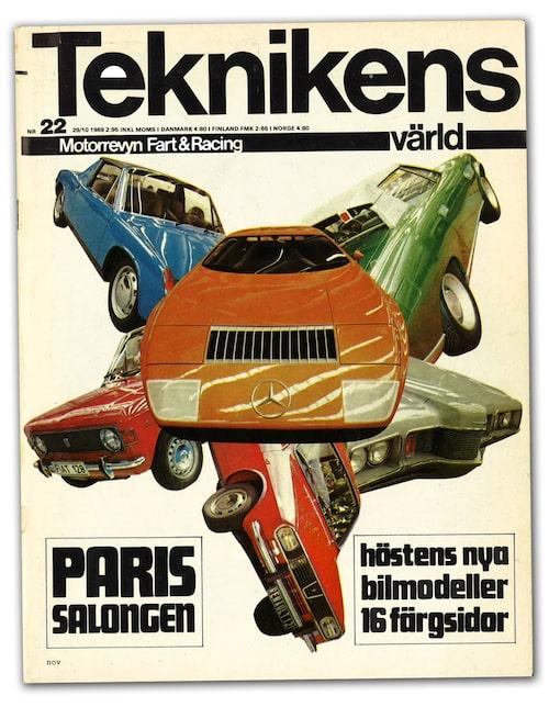 Omslaget till TV 22/1969 där C 111 visades färdig för första gången.