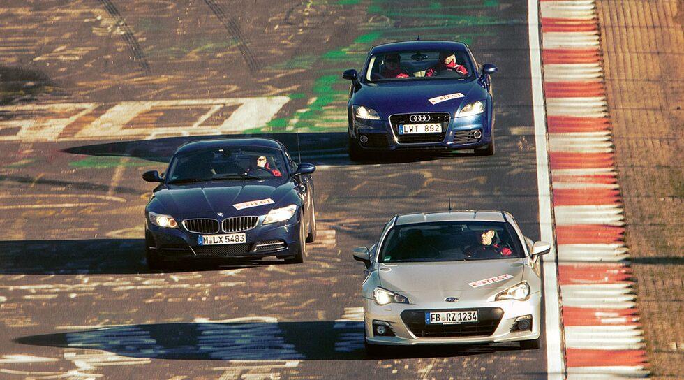 Subaru BRZ, BMW Z4 och Audi TT