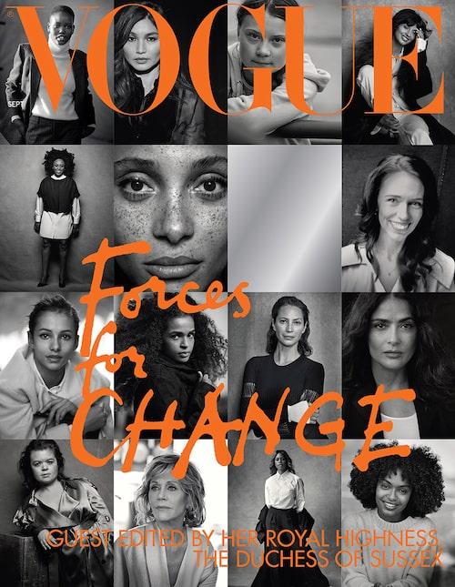 Meghan Markle har själv valt ut kvinnorna som pryder omslaget på septembernumret av brittiska Vogue.