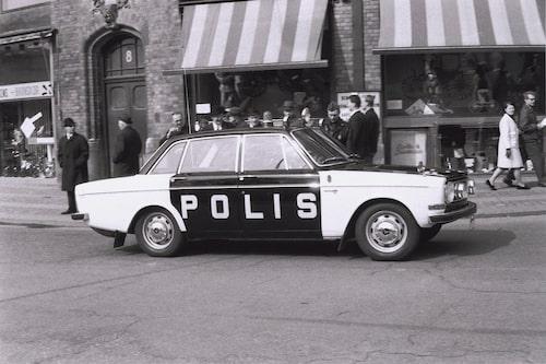 Volvo 144S Polisbil från 1967.