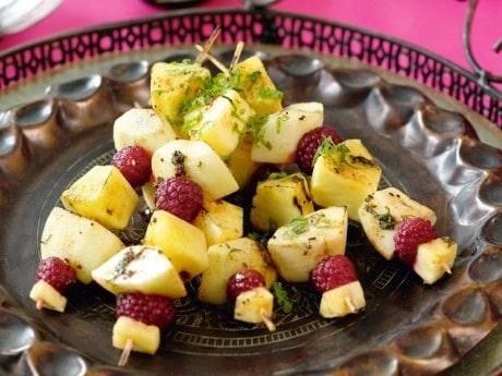 Grillade fruktspett