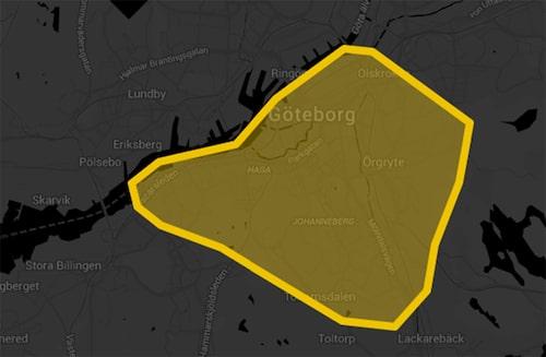 Inom detta område går det att åka med taxitjänsten Bzzt.