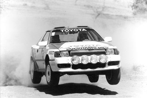 """Björn Waldegård hade en lång sejour hos Toyota där chefen var hans före detta upplandsgrannen Ove """"Påven"""" Andersson. Sex segrar noterades."""