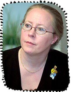 Gerd Almquist–Tangen, barnsjuksköterska och barnhälsovårdsutvecklare i Region Halland.