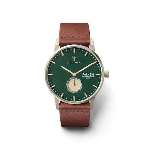 Klocka med grön urtavla från Triwa.