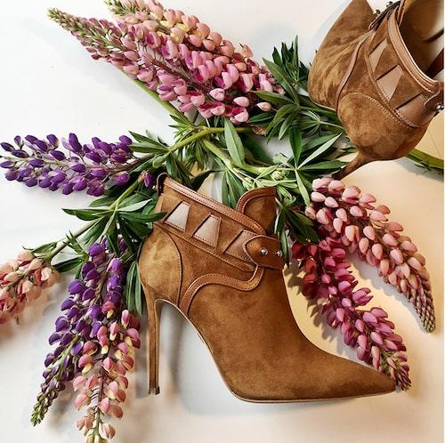 Rebecca Björnsdotters skor tillverkas i Italien.