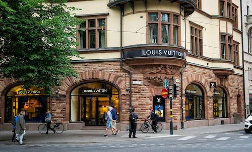 Louis Vuittons butik i Stockholm, Sverige.