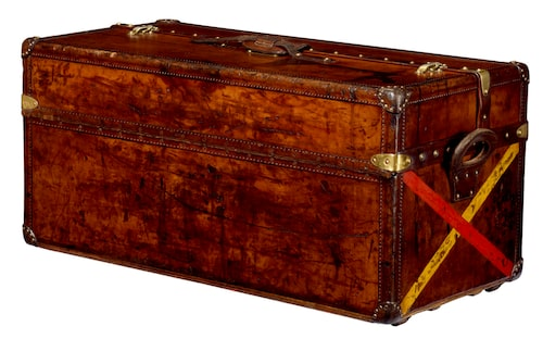 Resväska/trunk i läder från Louis Vuitton, tillverkad 1905. Foto: Louis Vuitton/Patrick Gries