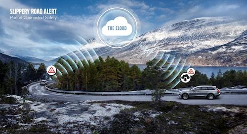 Volvo Slippery road alert