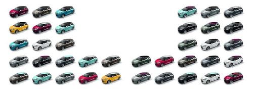 Citroën DS3 finns i en lång rad olika färger.