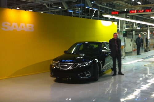 Nya Saab 9-3 Aero Sedan modellår 2014, helt nygräddad direkt från produktionsbandet.