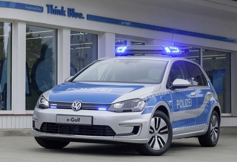 Volkswagen e-Golf som tysk polisbil