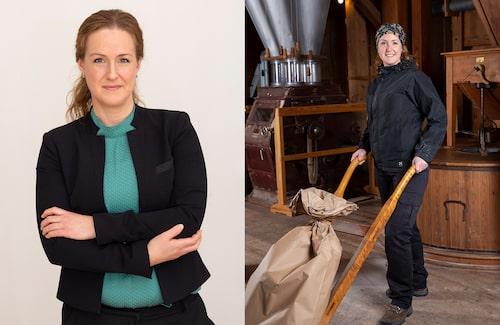 Till vardags jobbar Therese på Socialförvaltningen. Som extrajobb är hon mjölnare.
