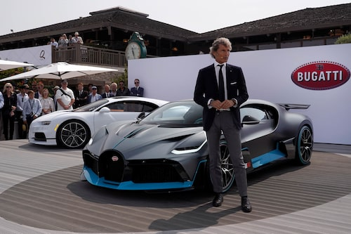 Stephan Winkelmann och Divo – kanske den sista bilen att presenteras med W16-motor.