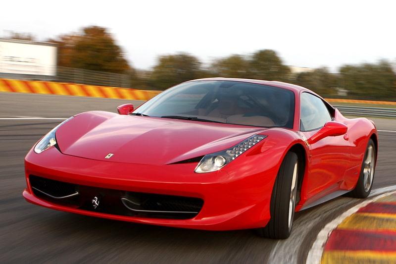 Provkörning av Ferrari 458 Italia