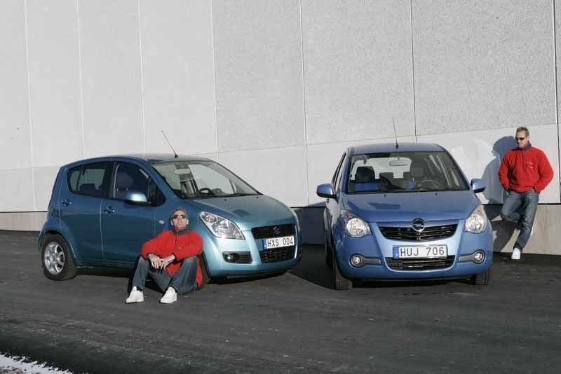 Opel Agila Enjoy mot Suzuki Splash Exklusiv