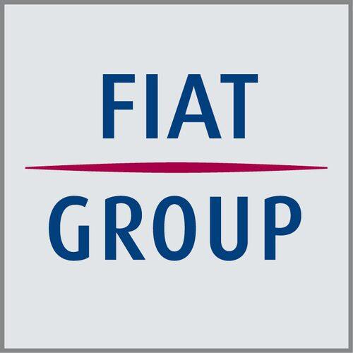 Nuvarande logotypen för Fiat Group som upplöses 1 januari 2011.