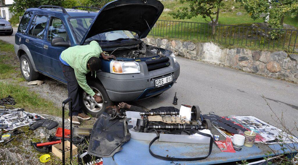 Land Rover Freelander, service från Ghana