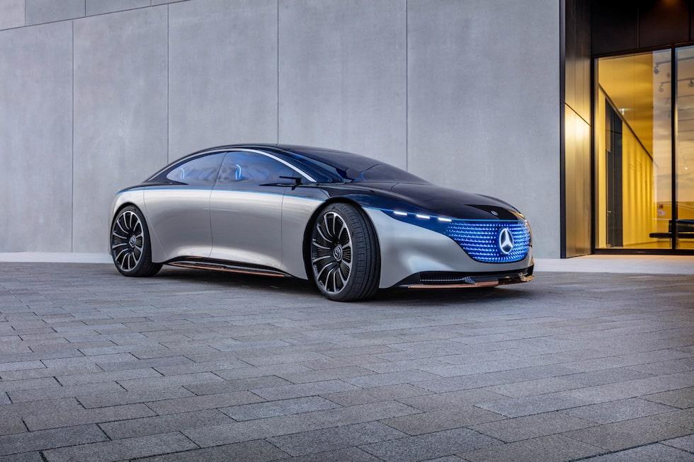Konceptbilen Vision EQS från 2019.