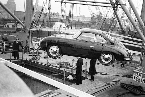 Porsche 356 gick på export, här till USA 1953.