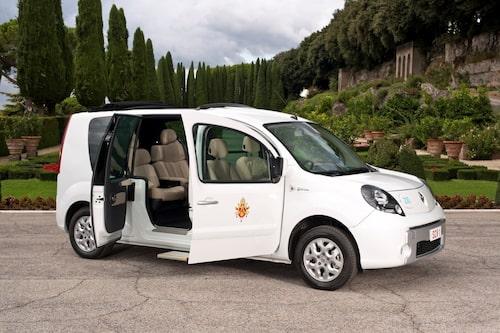 2012 Renault Kangoo ZE, påve Benedictus XVI