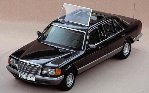 1985 Mercedes S 500, påve Johannes Paulus II