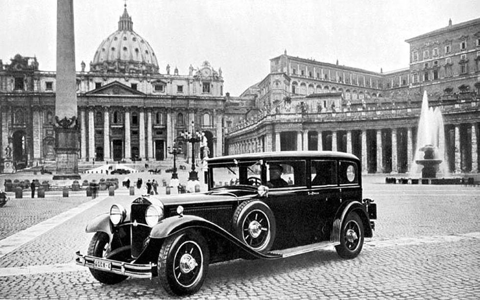 1930 Mercedes 460 Pullman, påve Pius XI