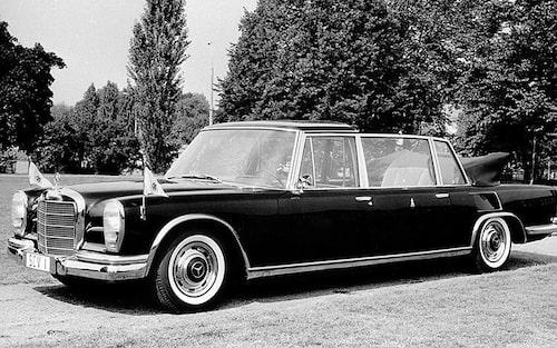 1965 Mercedes 600 Pullman Landaulet, påve Paulus VI