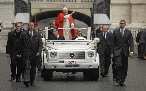 2008 Mercedes G 500, påve Benedictus XVI