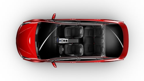 Nya Prius är rymligare, inte bara för passagerarna utan även för bagaget.