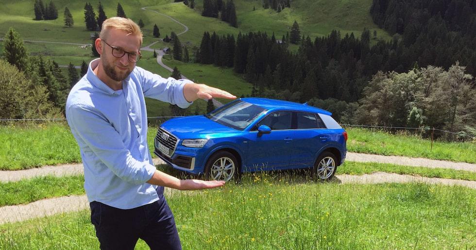 Att Audi Q2 är liten, det har vi förstått. Men att den är så här liten...