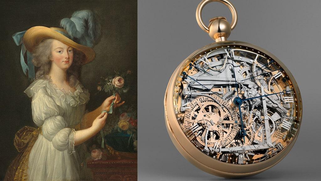 Marie Antoinette och den Breguet-klocka som beställdes åt henne som kärleksgåva från svenske Axel von Fersen.