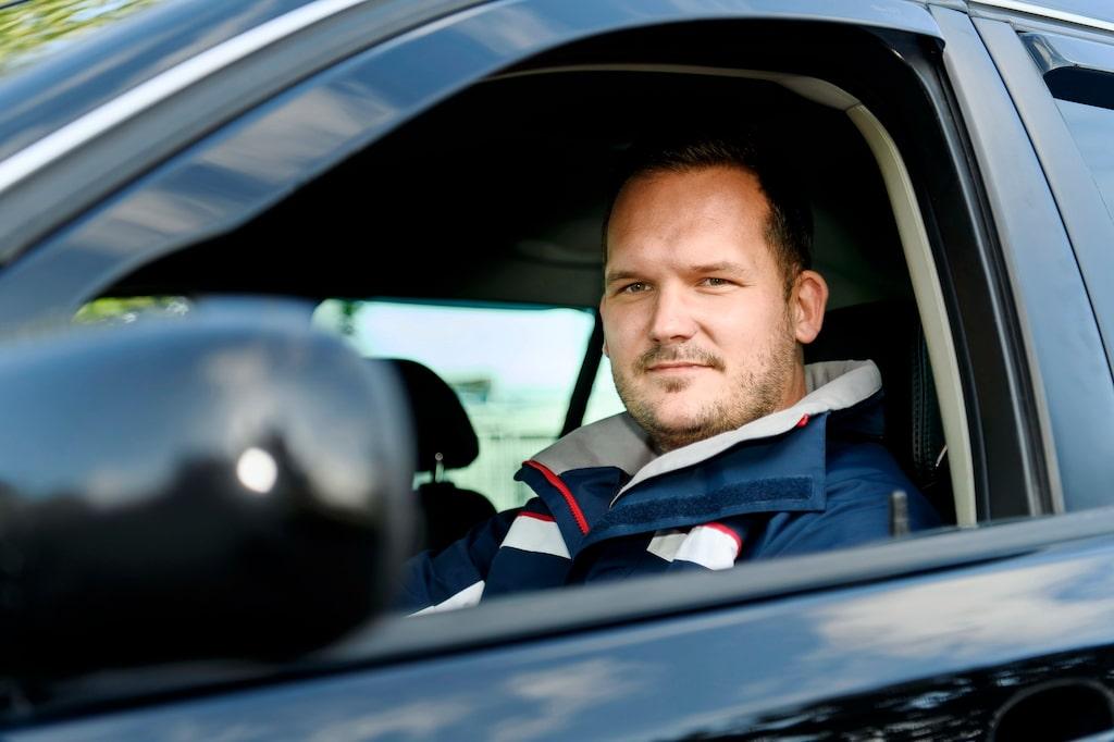Johan Nygren kommer från en genuin Saab-familj och intresset sträcker sig även till äldre klassiker.
